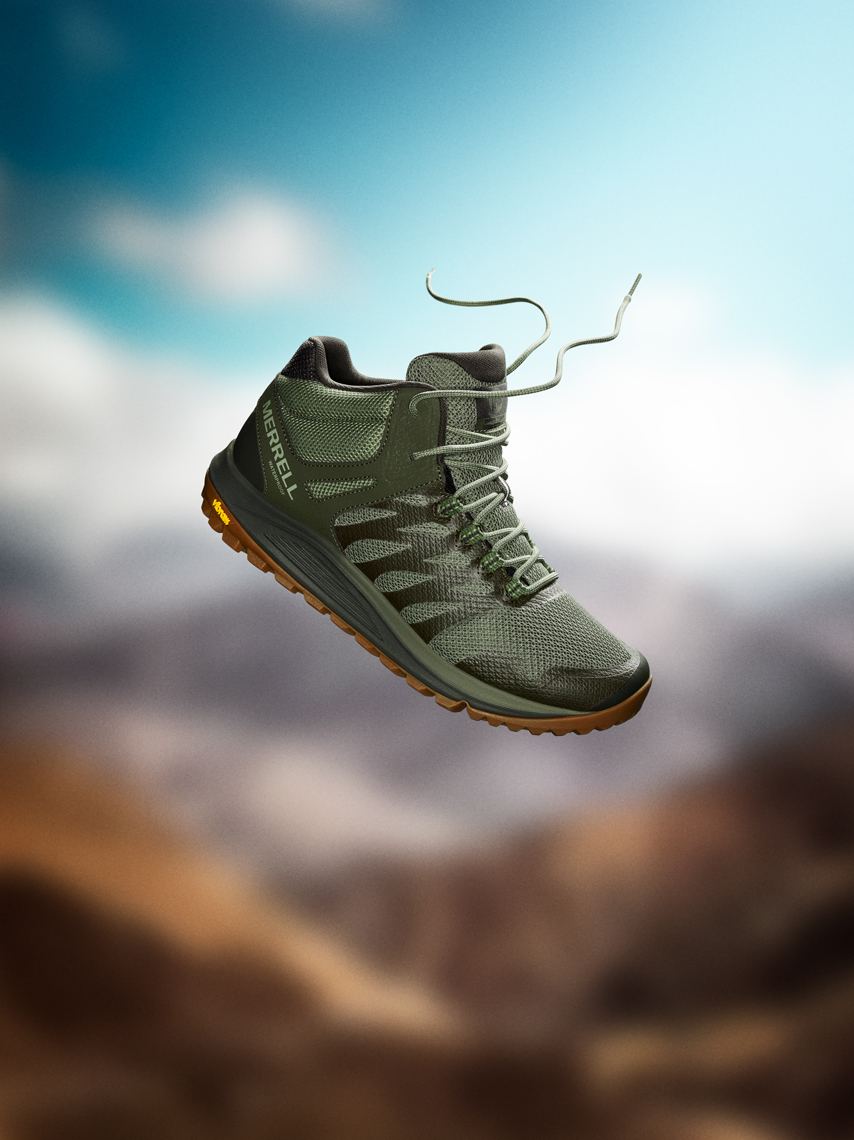 Merrell Footwear Image Retouching and Background Composite