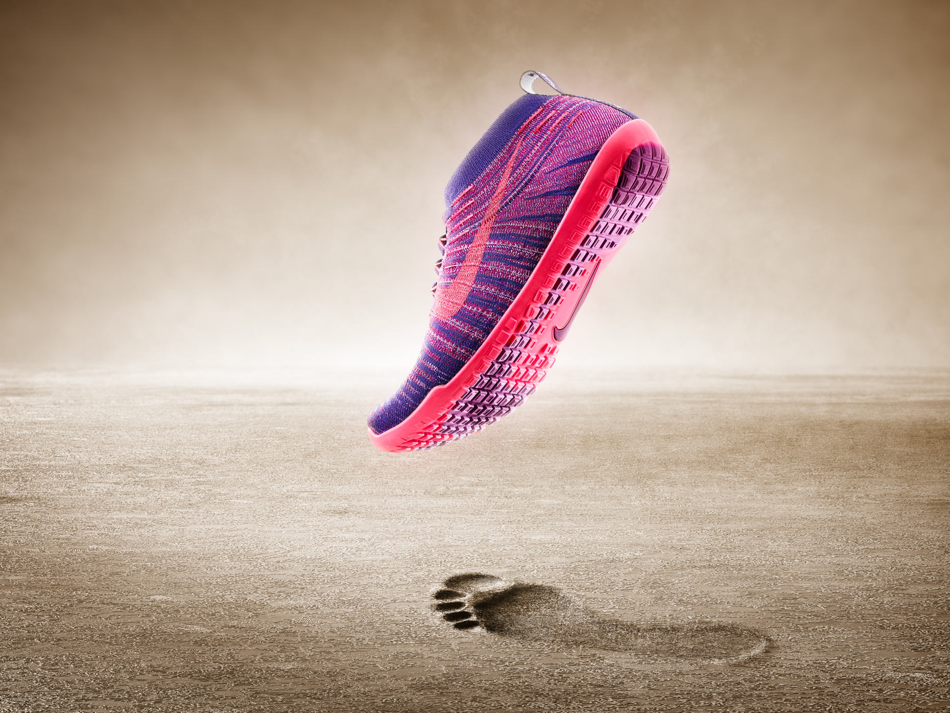 Nike Hyperfeel Image Composite, Effects and Retouching
