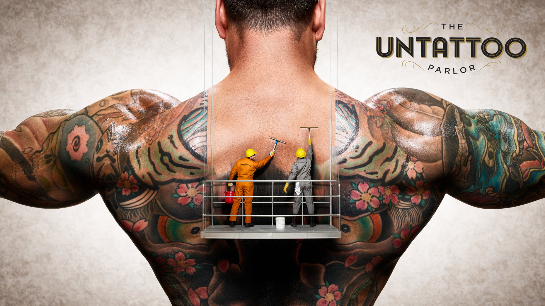 Untattoo Parlor Image Composite, Effects and Retouching